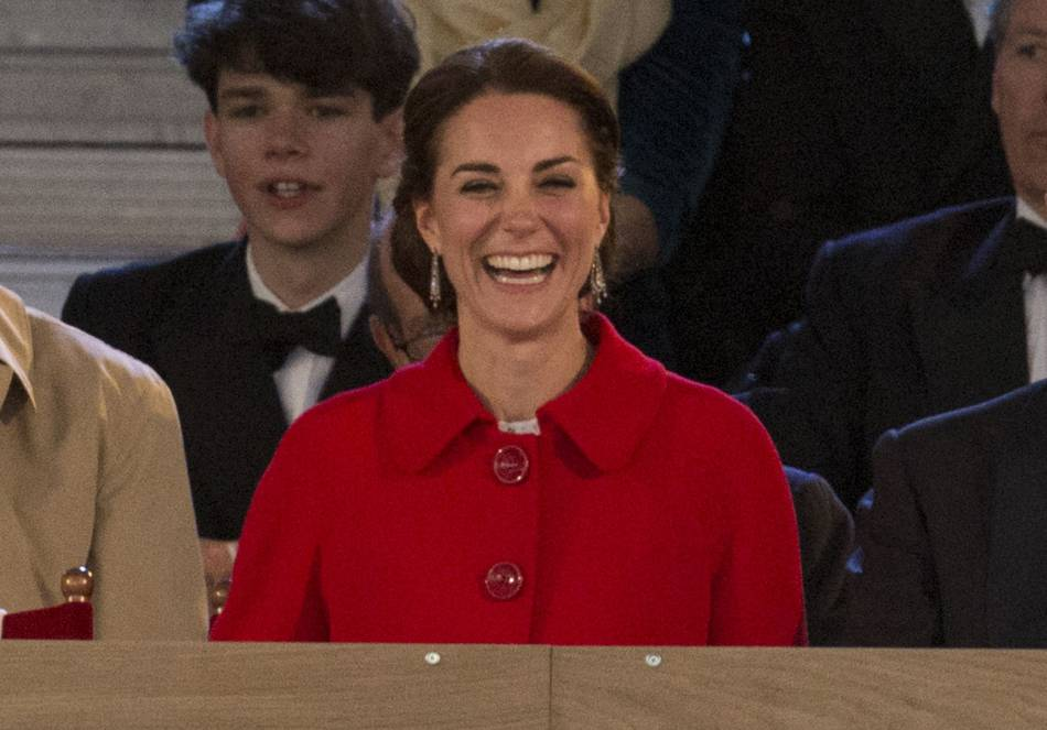 Kate Middleton était rayonnante et très souriante au château de Windsor, ce 15 mai 2016.