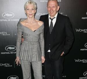"Tonie Marshall et Jean Paul Gaultier, invités du dîner Kering ""Women in Motion""."