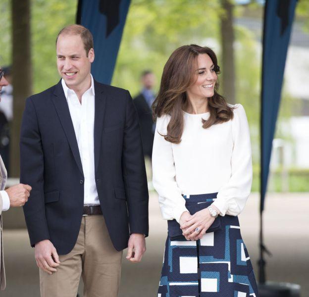 """Le prince William et Kate Middleton, tous deux élégants pour l'événement """"Heads Together"""" au parc olympique à Londres, le 16 mai 2016."""