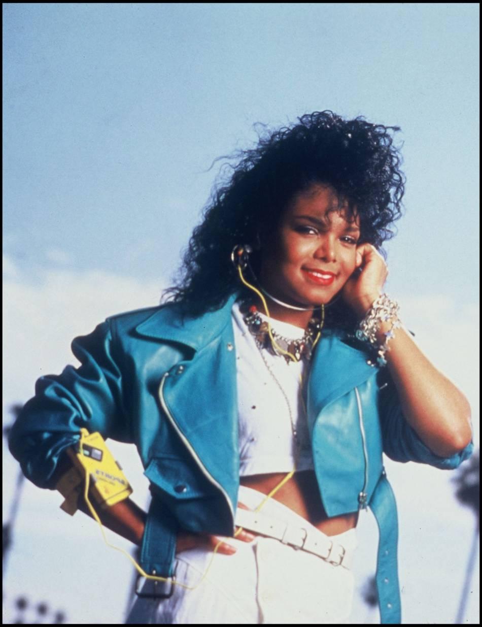 Janet Jackson au début de sa carrière, un baby star en 1986.