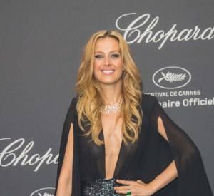 Petra Nemcova en Michael Costello et bijoux Chopard à la soirée Chopard le 16 mai 2016 à Cannes.