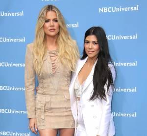 Kourtney et Khloe Kardashian : mini robe décolletée et brassière sur red carpet