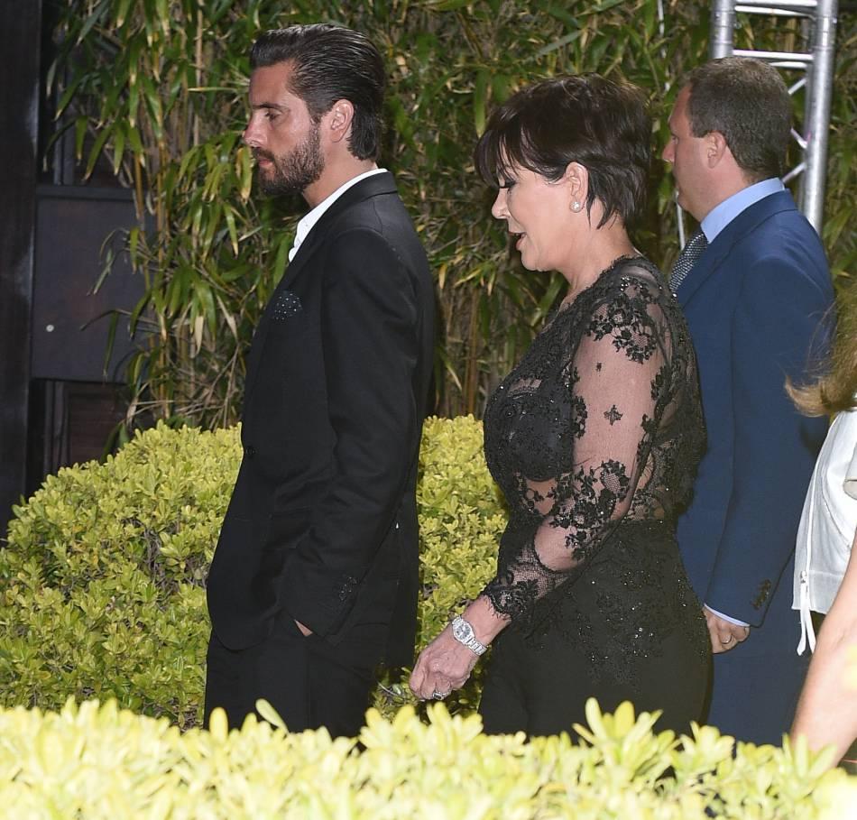 Kris Jenner et Scott Disick à Cannes.