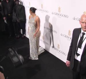 L'arrivée de Kim Kardashian et Kris Jenner à la soirée De Grisogono.