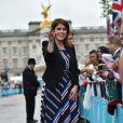 La princesse Eugenie d'York sur l'avenue The Mall à Londres à l'occasion du 90e anniversaire de la reine en juin dernier.