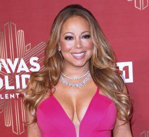 Mariah Carey : bas résille et maxi décolleté pour un dîner aux chandelles