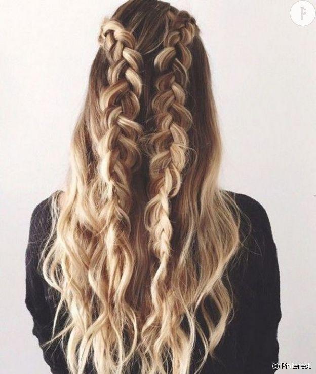 Effet wavy cheveux epais