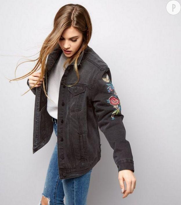 Veste en jean coupe boyfriend, New Look, 49,99 €.