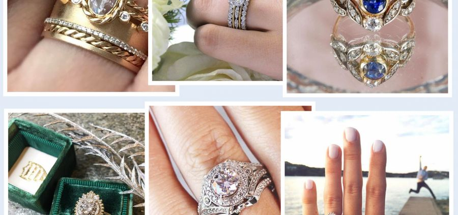 Bagues de fiançailles : 11 modèles canons repérés sur Instagram