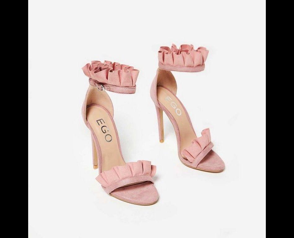 """Escarpins à volants roses,  modèle """"Florence"""" , Ego,  £29.99."""