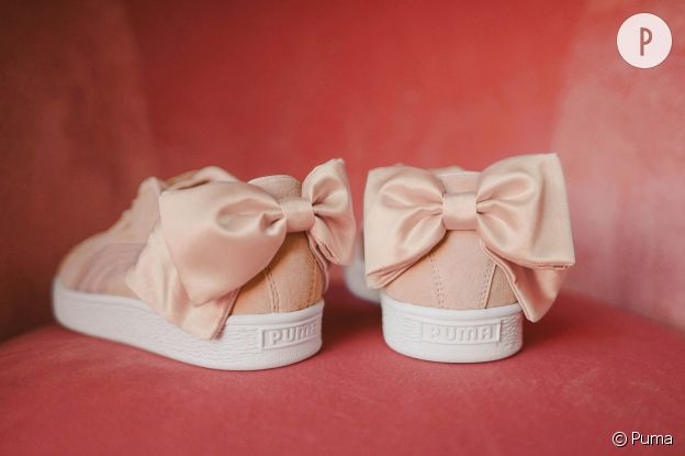 puma basket bow suede