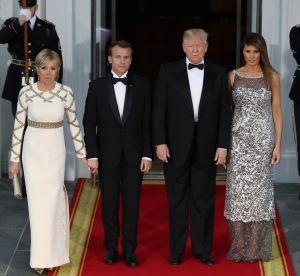 Brigitte Macron vs Melania Trump : deux robes de soirée, deux styles