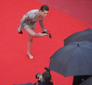 Kristen Stewart rebelle : elle retire ses Louboutin sur le red carpet de Cannes