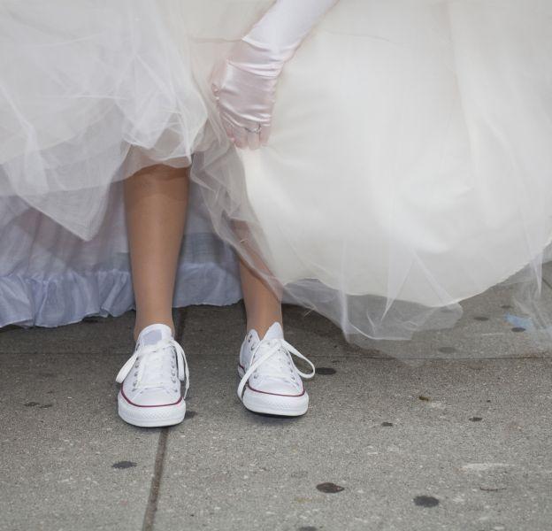 converse blanche mariage