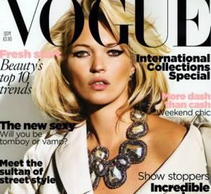 Kate Moss en couverture du Vogue UK de septembre