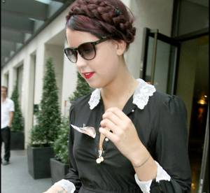 Peaches Geldof : allure sage et retro en mini robe vintage
