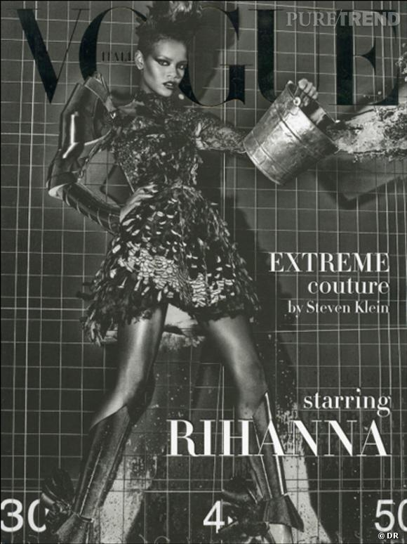 Rihanna en couverture du numéro de septembre du Vogue Italie