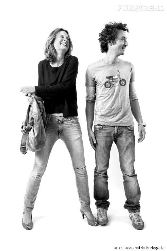 Jérôme Dreyfuss, Maroquinier et Virginie Lanoue, Actrice