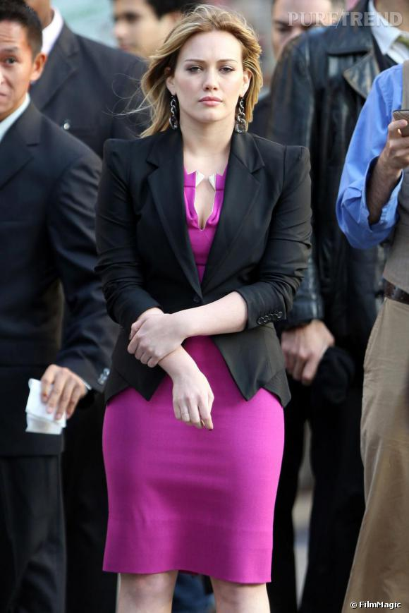 Hilary Duff sur le tournage de Business Of Falling in Love