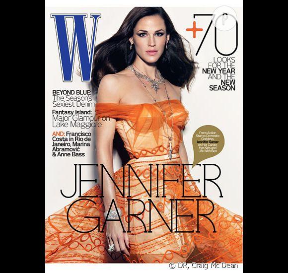 Jennifer Garner en couverture  de W Magazine du mois de janvier 2010