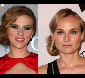 Diane Kruger Vs Scarlett Johansson : qui porte le mieux le chignon bohème ?