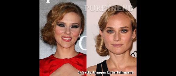 Entre Diane Kruger et Scarlett Johansson, qui selon vous porte le mieux le chignon sur le côté ?