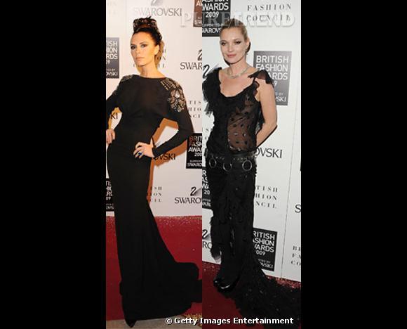 Entre Kate Moss et Victoria Beckham : qui porte le mieux la longue robe noire ?