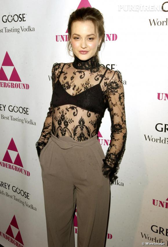 "Leighton Meester avant sa performance sur le red carpet de ""The Underground"" à Chicago"