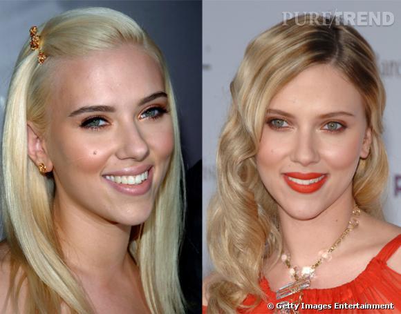 Si Scarlett Johansson est magnifique quoiqu'elle fasse, on lui trouve tout de même plus d'originalité bouclée.
