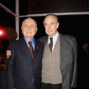 Pierre Bergé et Frédéric Mitterand au Dîner de la Mode contre le Sida