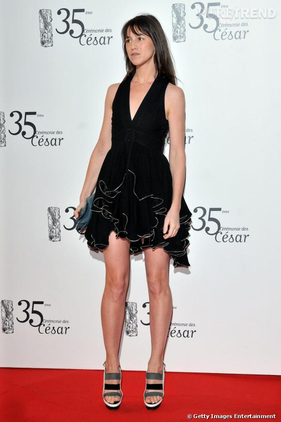 Charlotte Gainsbourg en robe Balenciaga