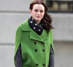 Leighton Meester version Blair Waldorf : la cape preppy et vitaminée... A shopper !