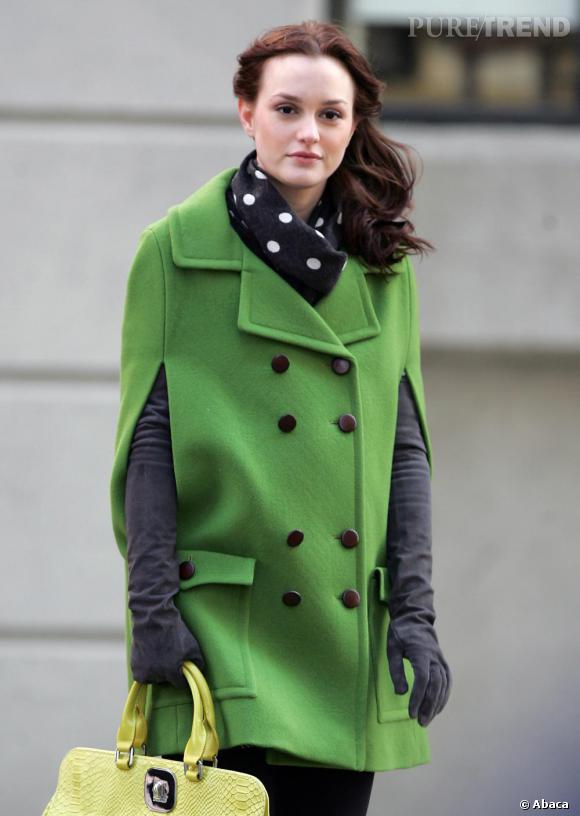 Leighton Meester version Blair Waldorf sur le tournage de Gossip Girl
