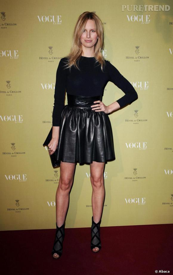 Karolina Kurkova au Crillon lors de la soirée Vogue à Paris