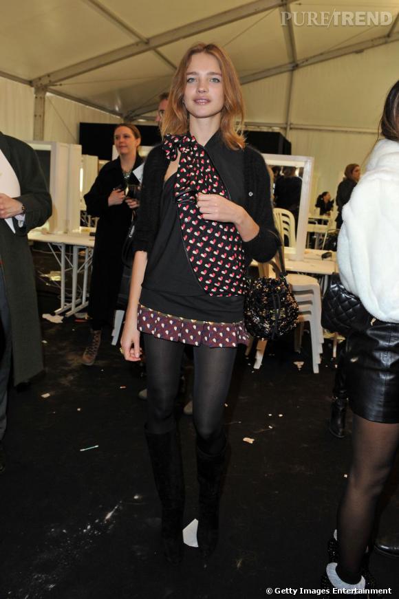 Natalia Vodianova lors du défilé Louis Vuitton