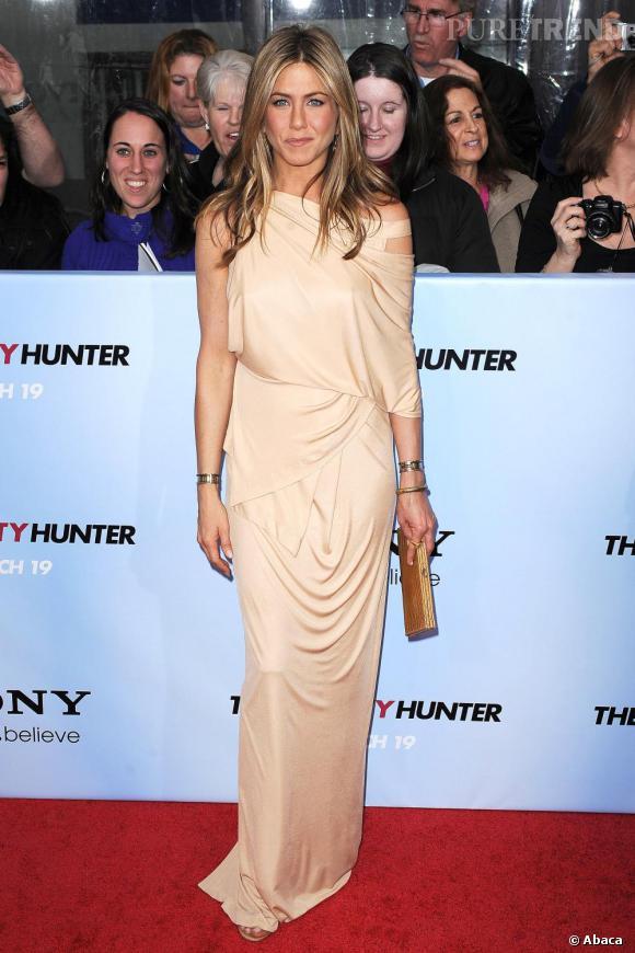 Total look nude pour Jennifer