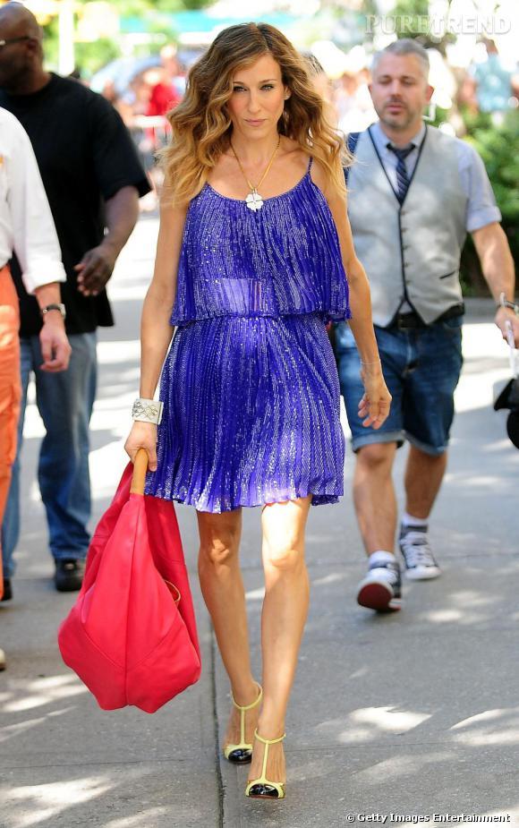Quelle veste avec robe violette