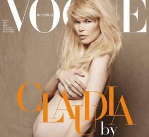 Enceinte et nue : Claudia Schiffer est sublime