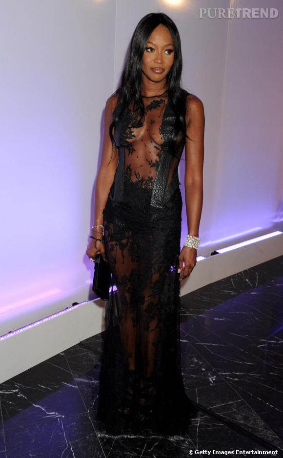 Naomi Campbell au Neon Charity Gala à Moscou