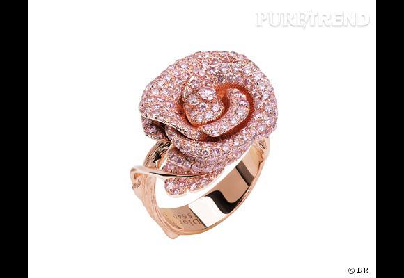 bague bagatelle dior joaillerie bague en or rose serti de diamants roses prix sur demande. Black Bedroom Furniture Sets. Home Design Ideas