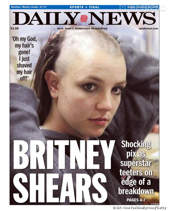 Février 2007, l'image d'une Britney chauve choque le monde entier, la fin de la princesse pop ?