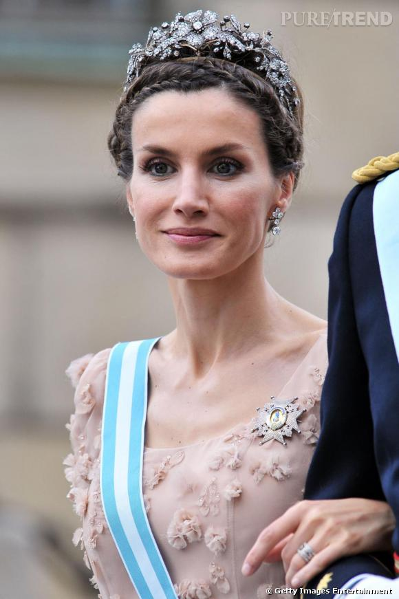 Letizia Ortiz au mariage de la princesse Victoria et Daniel Westling à Stockholm