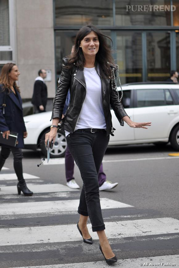 la r dactrice du vogue fran ais emmanuelle alt affiche un look d contract mais chic un perf. Black Bedroom Furniture Sets. Home Design Ideas