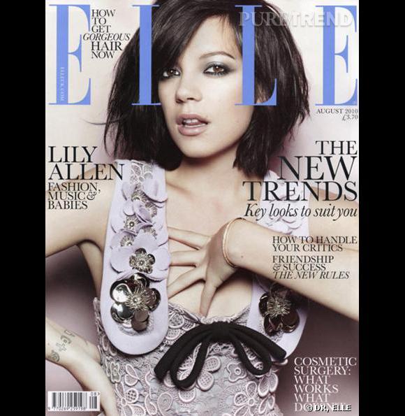 Lily Allen en couverture du numéro du Elle anglais d'août 2010.