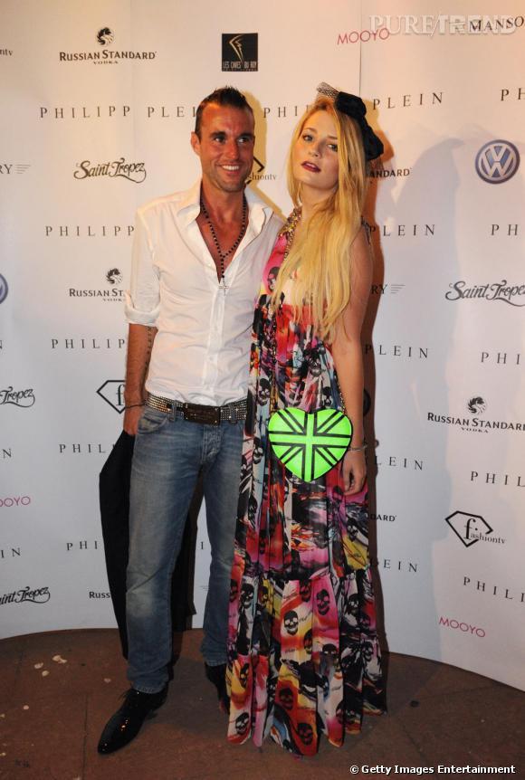 Mischa Barton et Philipp Plein à l'ouverture de la boutique Plein à St Tropez.