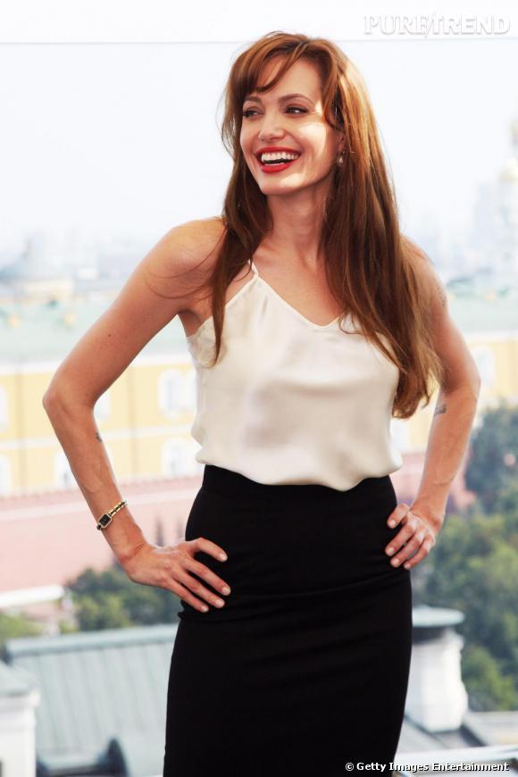 Angelina Jolie au photocall de Salt à Moscou