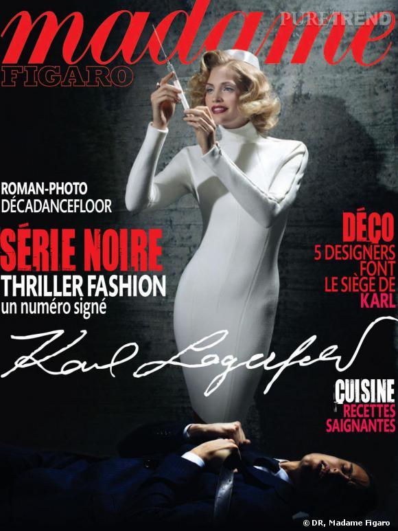 Couverture du numéro spécial Madame Figaro signé Karl Lagerfeld du 25 septembre 2010.
