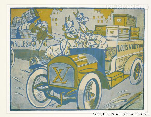 """""""Louis Vuitton for ever, le pot de terre et le pot de fer"""", 1906 : Dessin de Mich."""