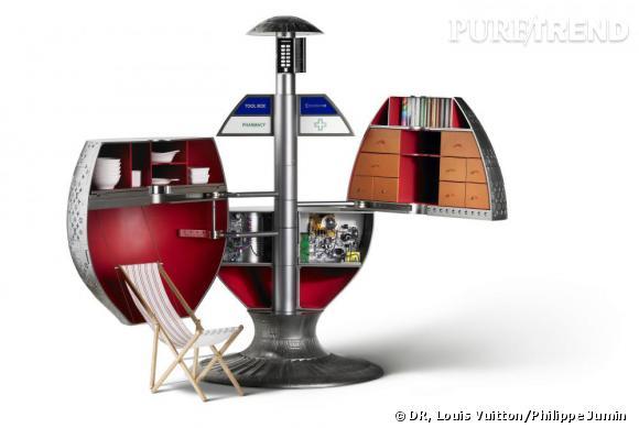 Malle Mars en résine,  Yuko Torii, 2004.   Collection Louis Vuitton.