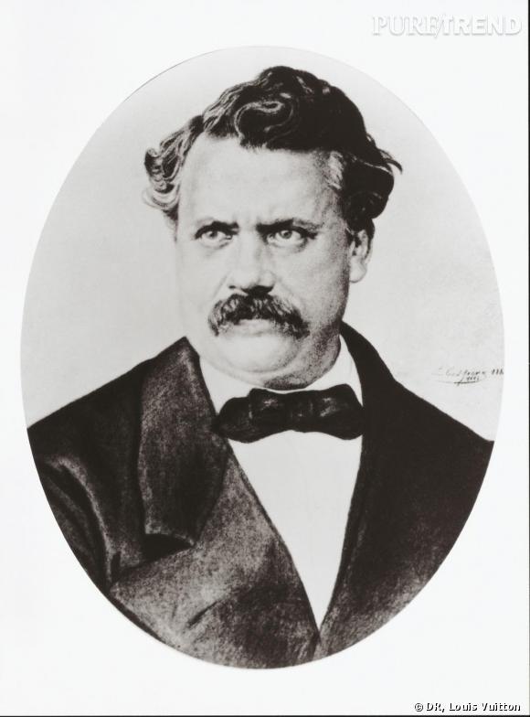 Portrait de Louis Vuitton (1821-1892),  fondateur de la Maison Louis Vuitton.